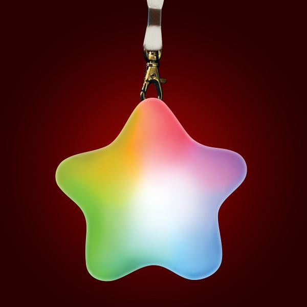Color Change LED Soft Star with Lanyard