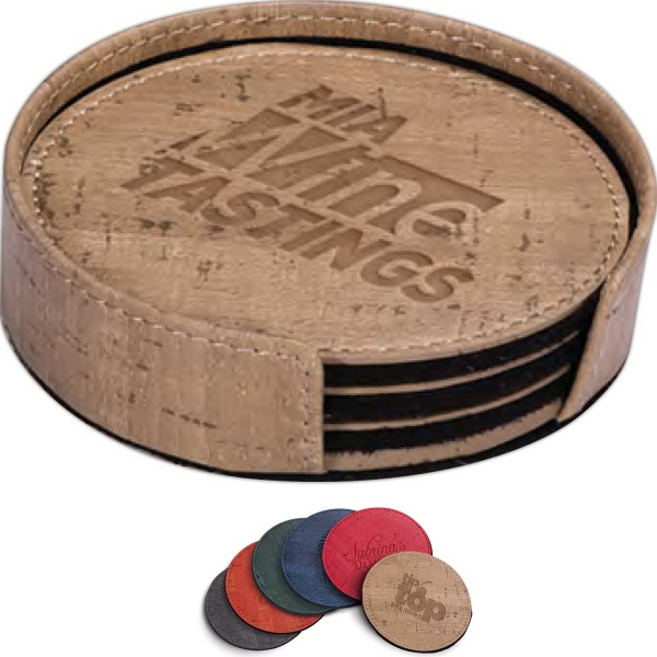 Casablanca Cork Round Coaster Set