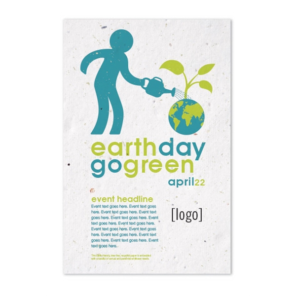 Earth Day Seed Paper Poster: 24 Stock Designs