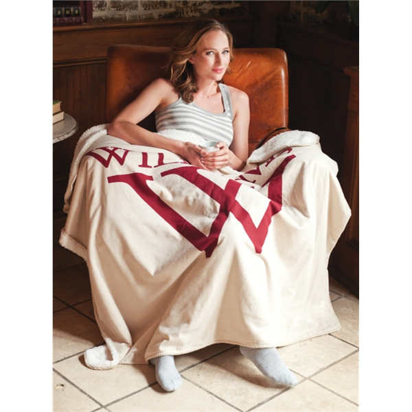 """The Middlebury Linen Blanket (TM) - Linen throw blanket is incredibly soft and big enough for two. 50"""" x 60"""""""