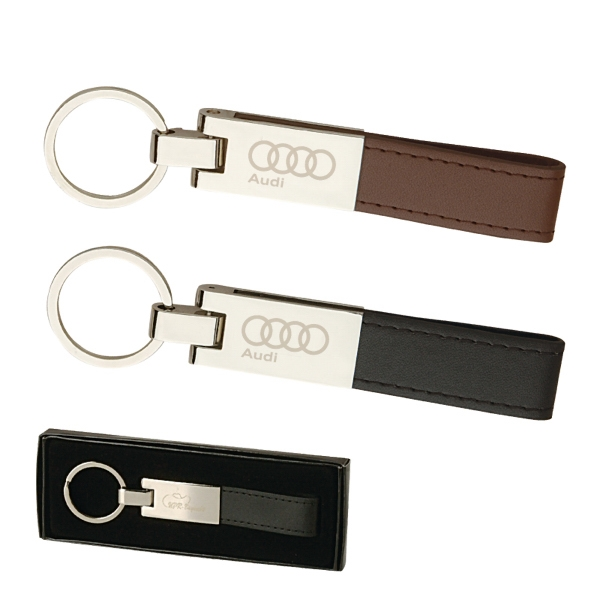 Leather And Silver Keyring