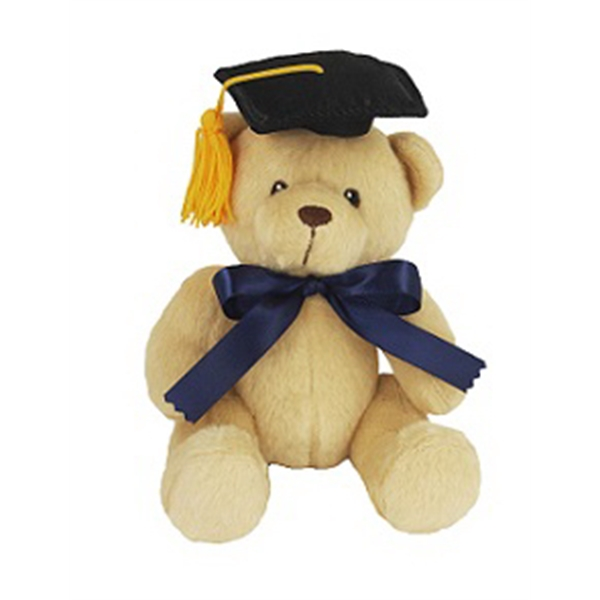 "6"" Honey Bear w/Grad cap and Ribbon"