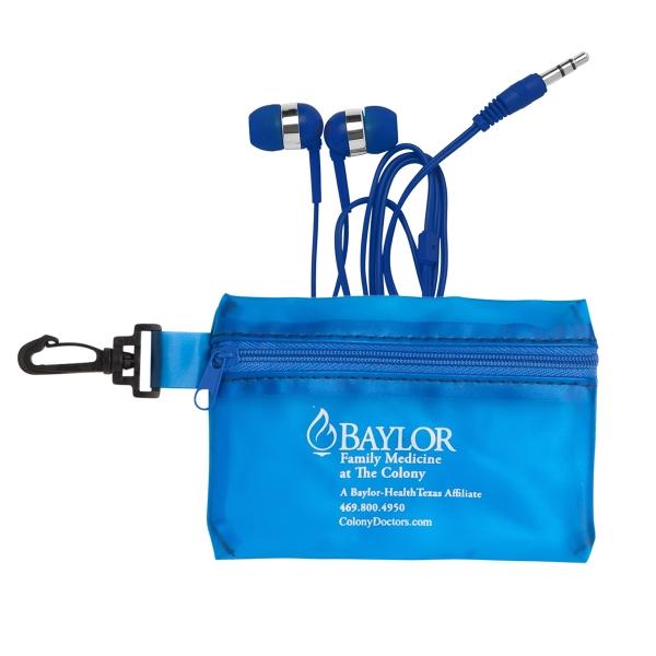 Zipper PVC Case w/Color Earphones