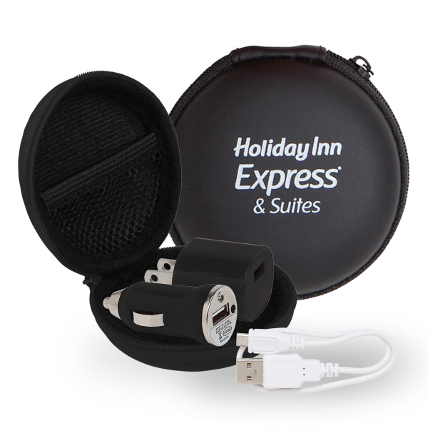 Techy Travel Set in Round EVA Case