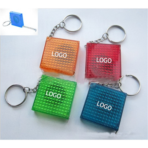 Reflective Tape Measures Key Ring