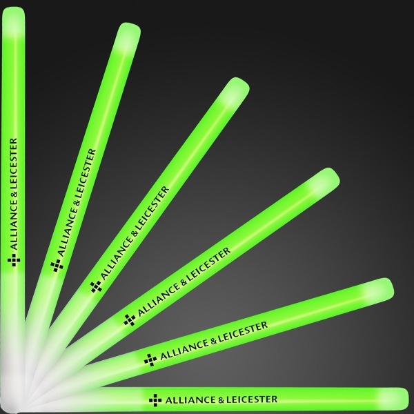 "9.4"" green glow stick wands"