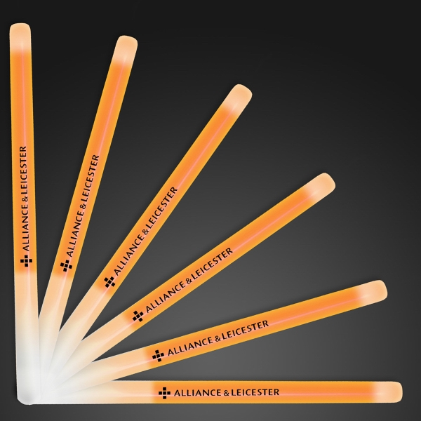 "9.4"" orange glow stick wands"