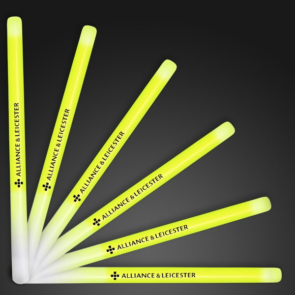 "9.4"" Yellow Glow Stick Wands"