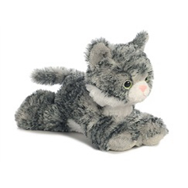 "8"" Lily Grey Tabby Cat"