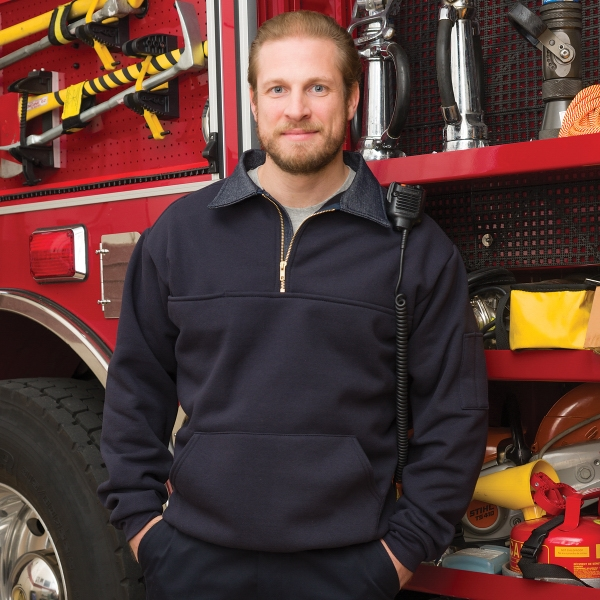 The Firefighter's Work Shirt w/ Front Pouch Pocket - Custom