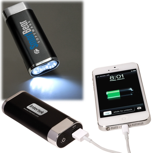 Mobile Charger with LED Light