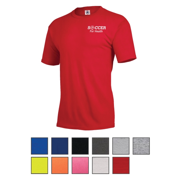 Delta Delta-Dri 30/1's Performance Adult Short Sleeve Tee
