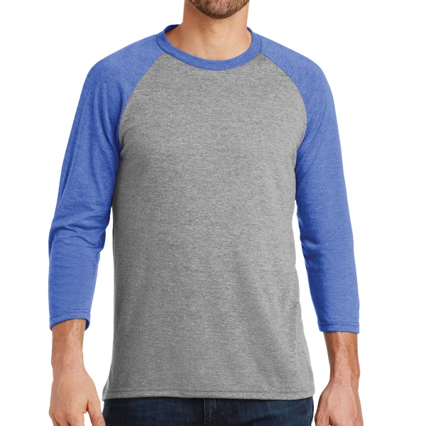 District Made (R) - Men's Perfect Tri 3/4 Sleeve Raglan