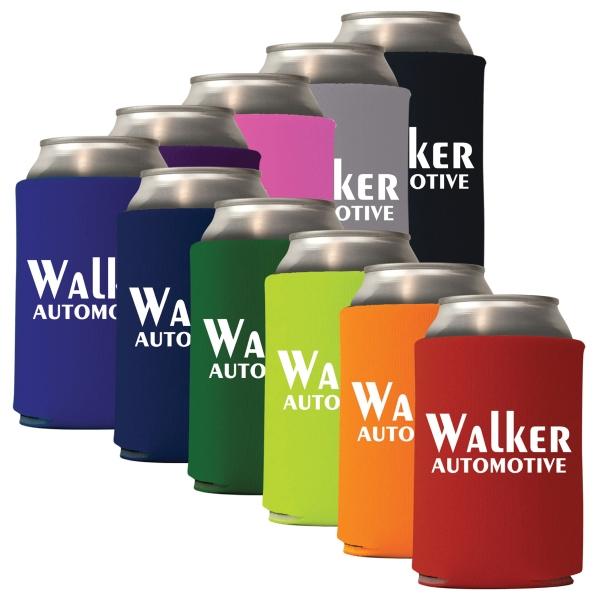 Neoprene Collapsible Can Coolie on Mega Special - Neoprene Collapsible can cooler is one of the greatest giveaways for any event