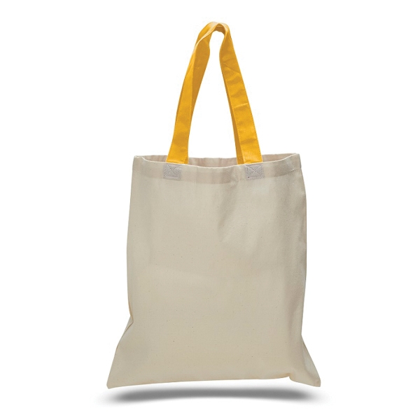 "Economical Tote 15"" x 16"" Bag with Color Handles"