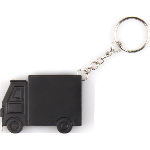 Truck shape tape measure key chain