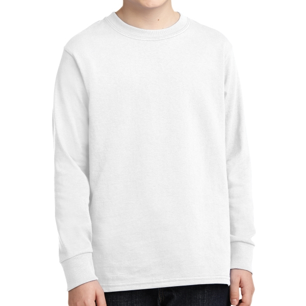 Port & Company (R) - Youth Long Sleeve Cotton T-Shirt