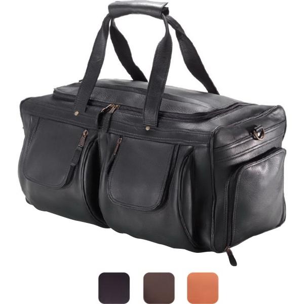 XL Leather Duffel w/ Shoe Pocket