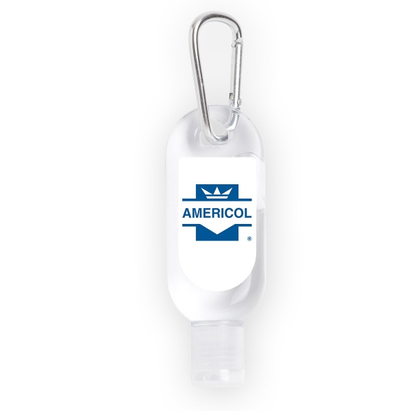 1 Oz Hand Sanitizer with Carabiner