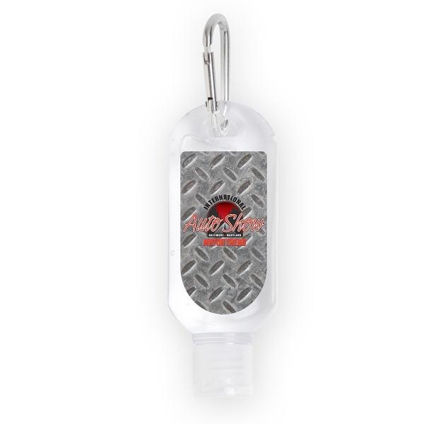 1.8 Ounce Hand Sanitizer with Carabiner