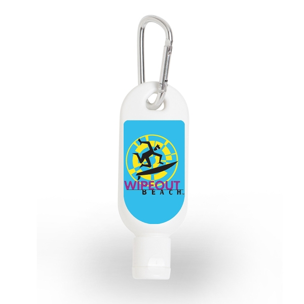 1 oz Sunscreen with Carabiner