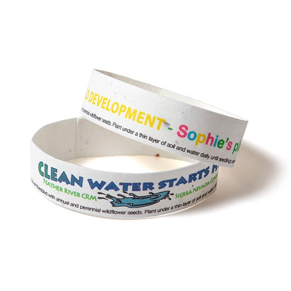 Seed Paper Wrist Band For Music Festivals and Events