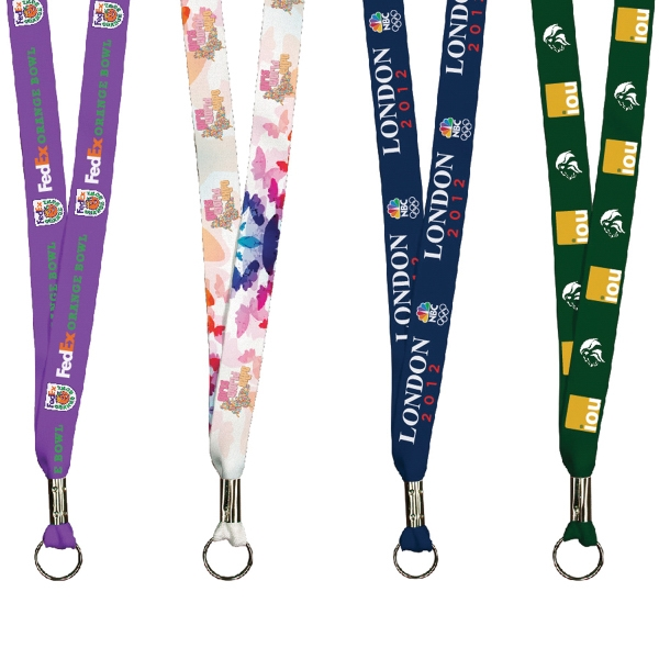 Full Color Imprint Smooth Dye Sublimation Lanyards