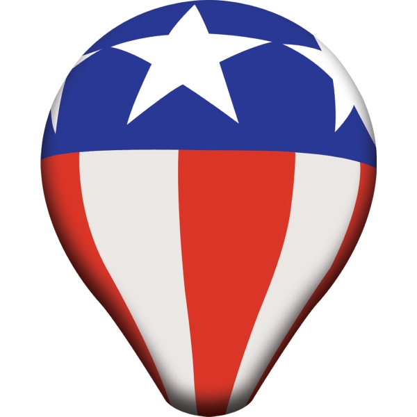 13'Dia. Helium Hot Air Balloon, White, Full-Digital Imprint
