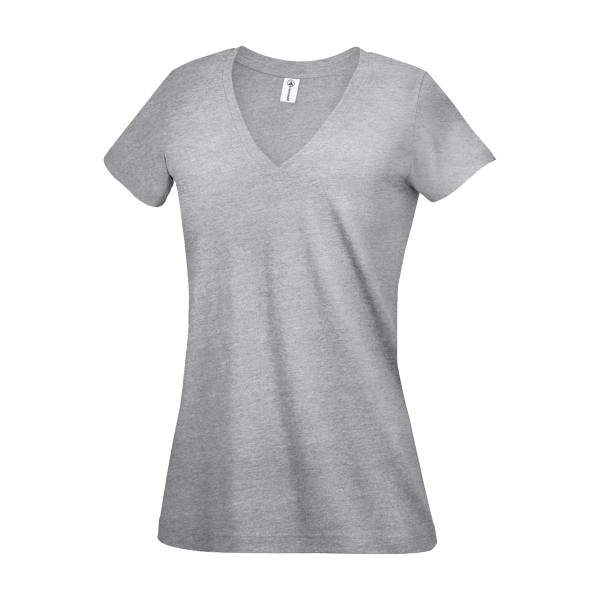 Delta (R) Ringspun Junior 30/1's Junior V-Neck Tee 4.3 Oz.