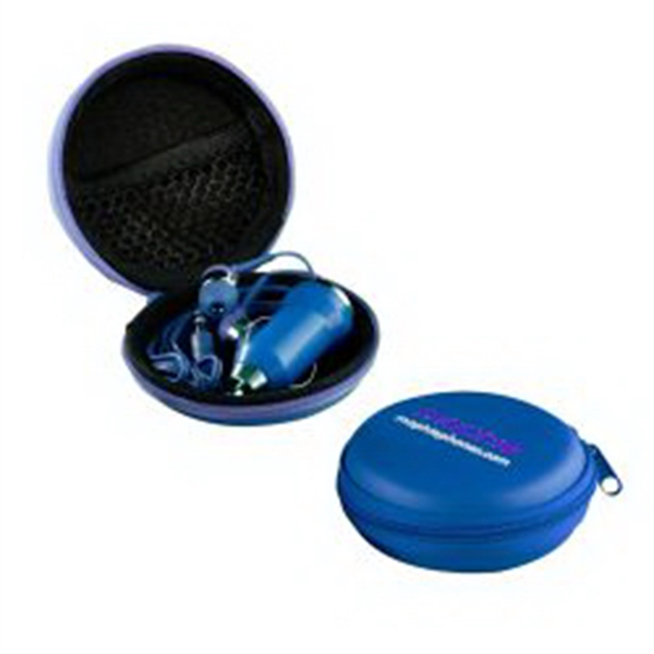 The Ear Bud Charger Kit - Blue