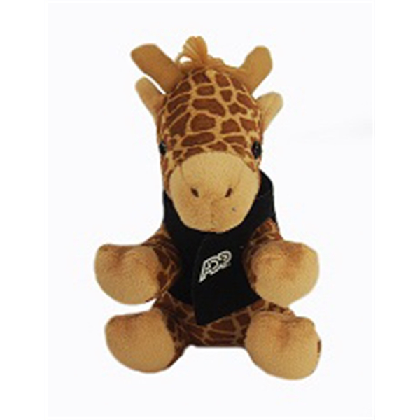 "6"" Lil' Giraffe with vest and one color imprint"