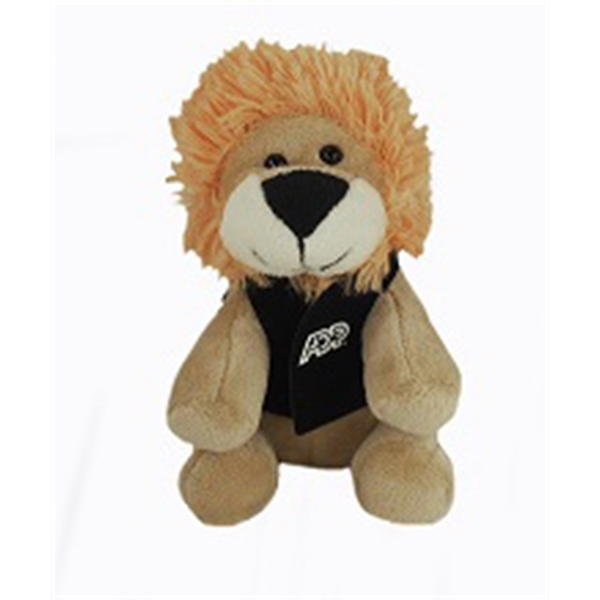 "6"" Lil' Lion with vest and one color imprint"
