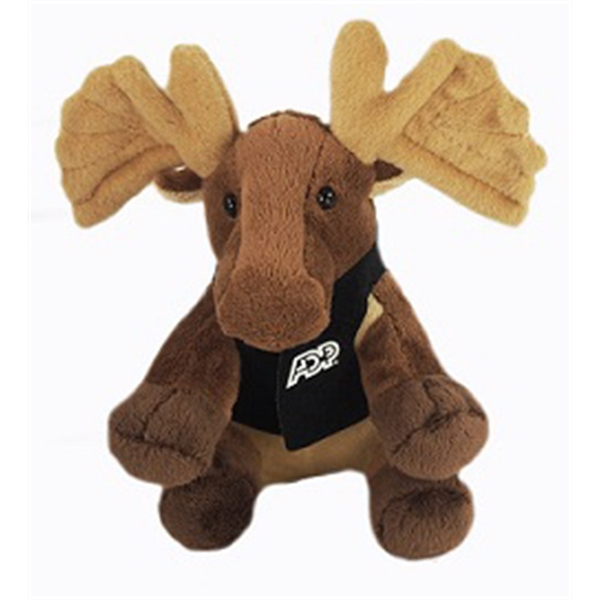"6"" Lil' Moose with vest and one color imprint"