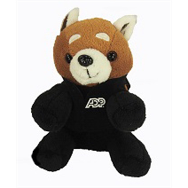 "6"" Lil' Red Panda with vest and one color imprint"