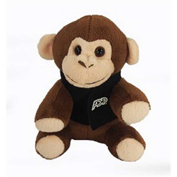 """6"""" Lil' Monkey with vest and one color imprint"""