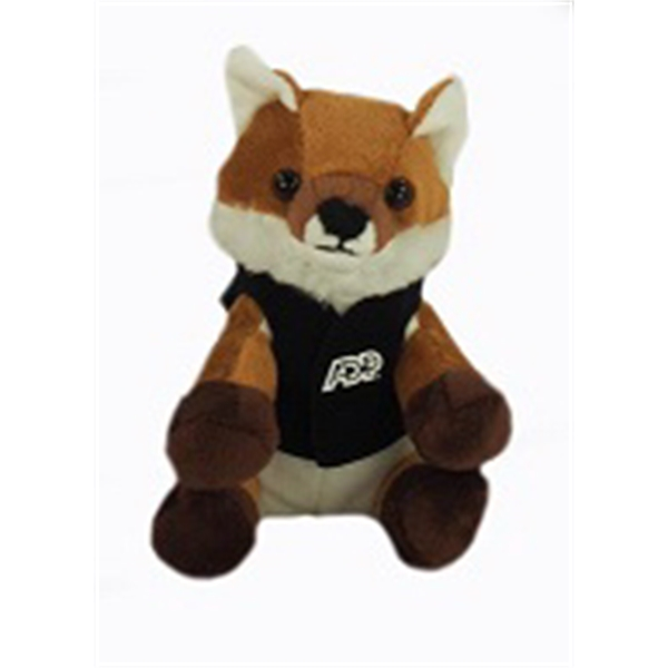"6"" Lil' Fox with vest and one color imprint"
