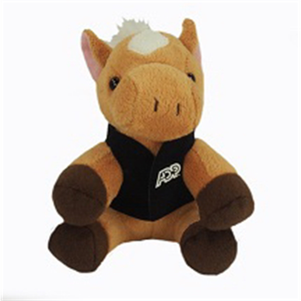 """6"""" Lil' Horse with vest and one color imprint"""