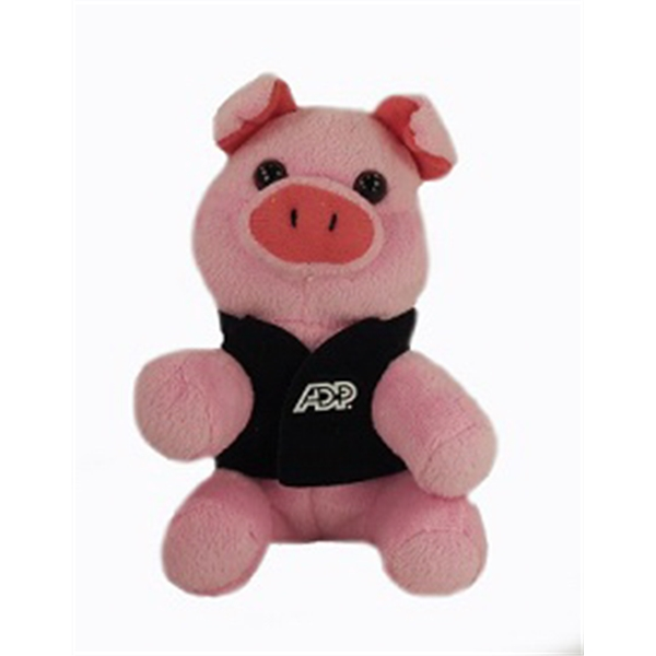 """6"""" Lil' Pig with vest and one color imprint"""