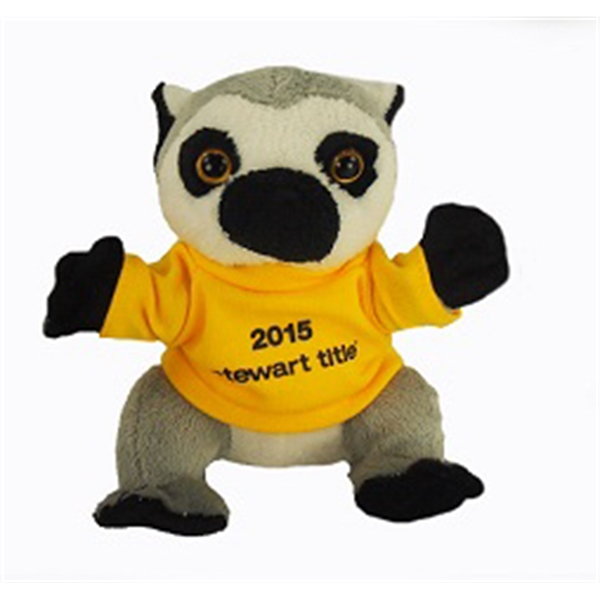 """6"""" Lil' Lemur with t-shirt and one color imprint"""