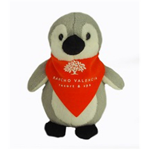 "6"" Lil' Penguin with bandana and one color imprint"