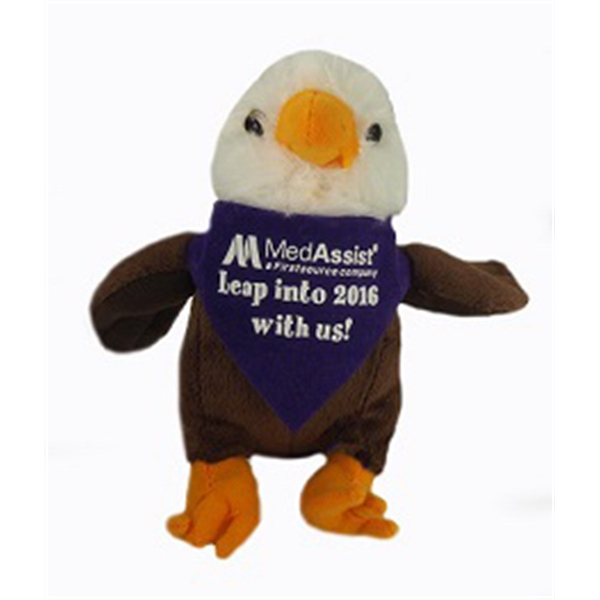"""6"""" Lil' Eagle with bandana and one color imprint"""
