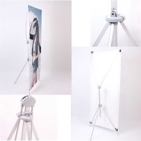Aluminum Alloy X Banner Stand With Screen Printing
