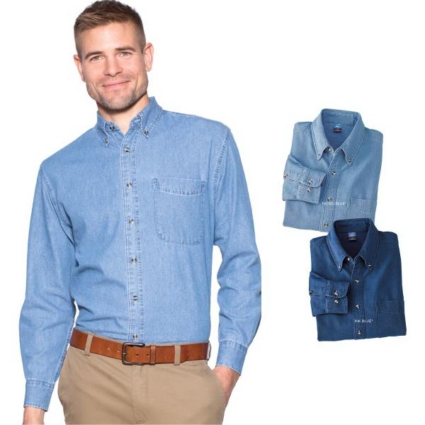 Port & Company® Value Denim Long Sleeve Shirt