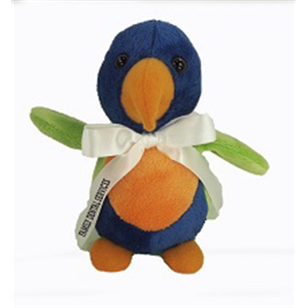 """6"""" Baby Lorikeet with ribbon and one color imprint"""