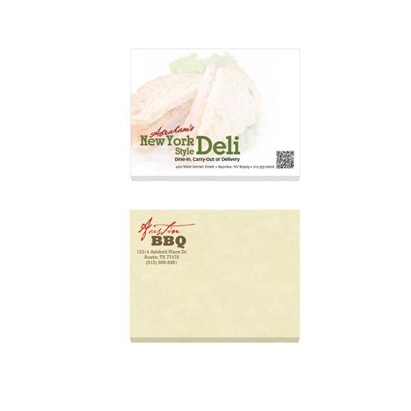 """4"""" x 3"""" Adhesive Notepad - 25 Sheets"""
