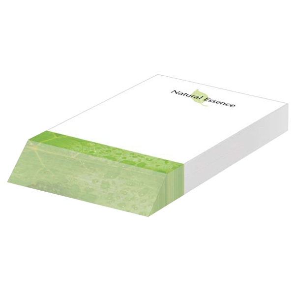 "Eco friendly 4"" x 6"" Adhesive Beveled Notepad"