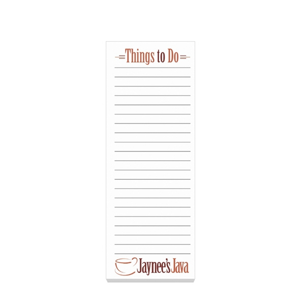 "Eco Friendly 3"" x 8"" Adhesive Notepad"