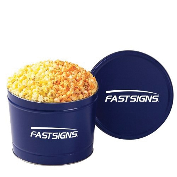 2 Way Popcorn Tin /2 Gallon