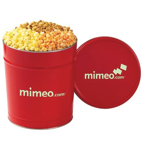 3 Way Popcorn Tin / 3.5 Gallon
