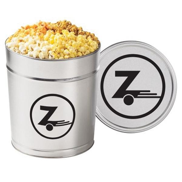 4 Way Popcorn Tin / 3.5 Gallon